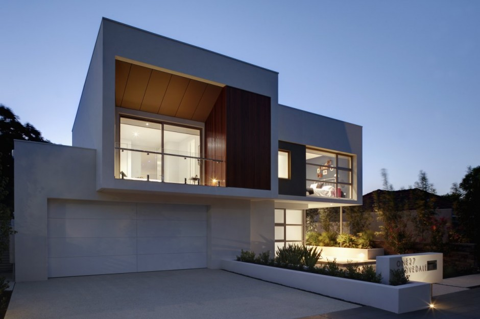 modern architecture  house Overlapping the Modern Construction Contemporary created