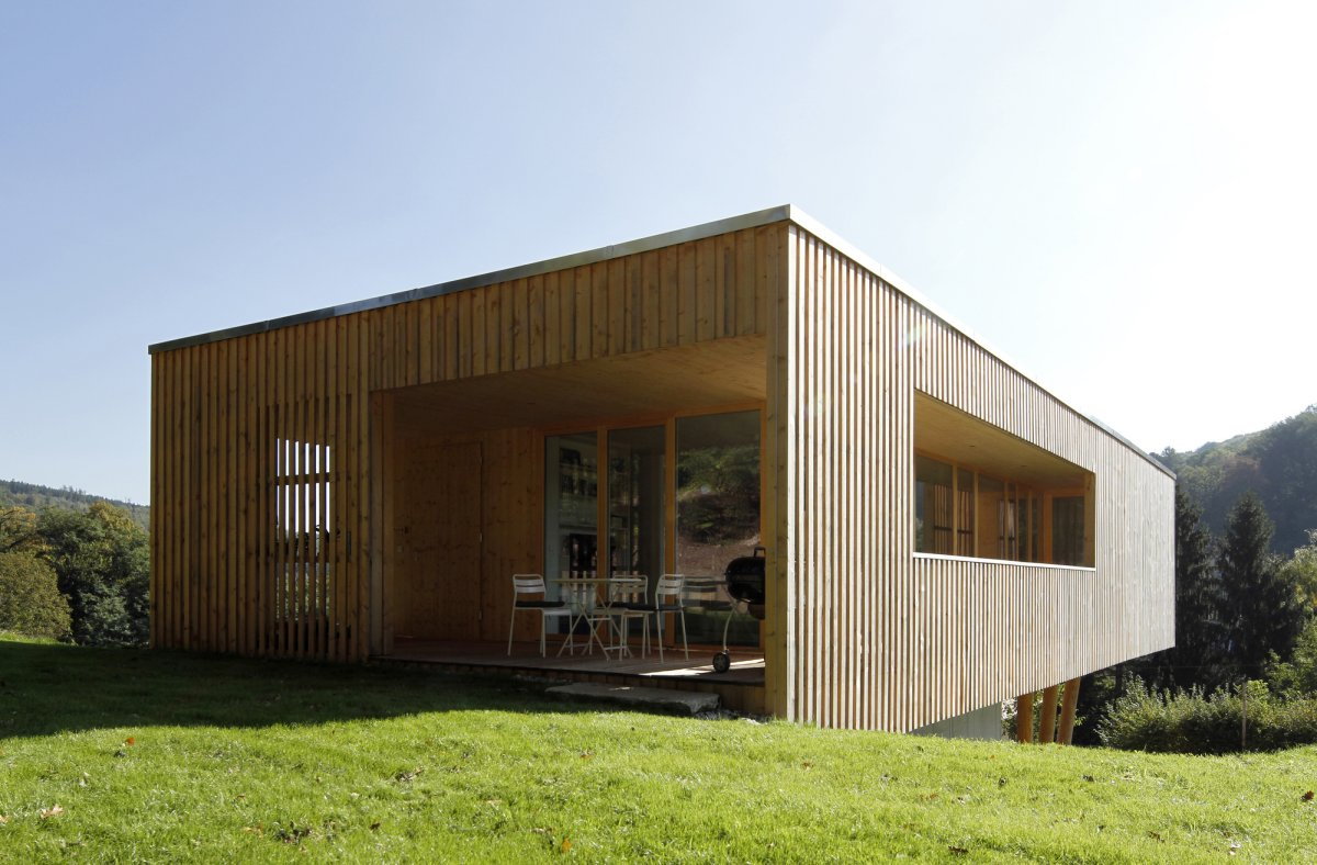 modern house made of wood