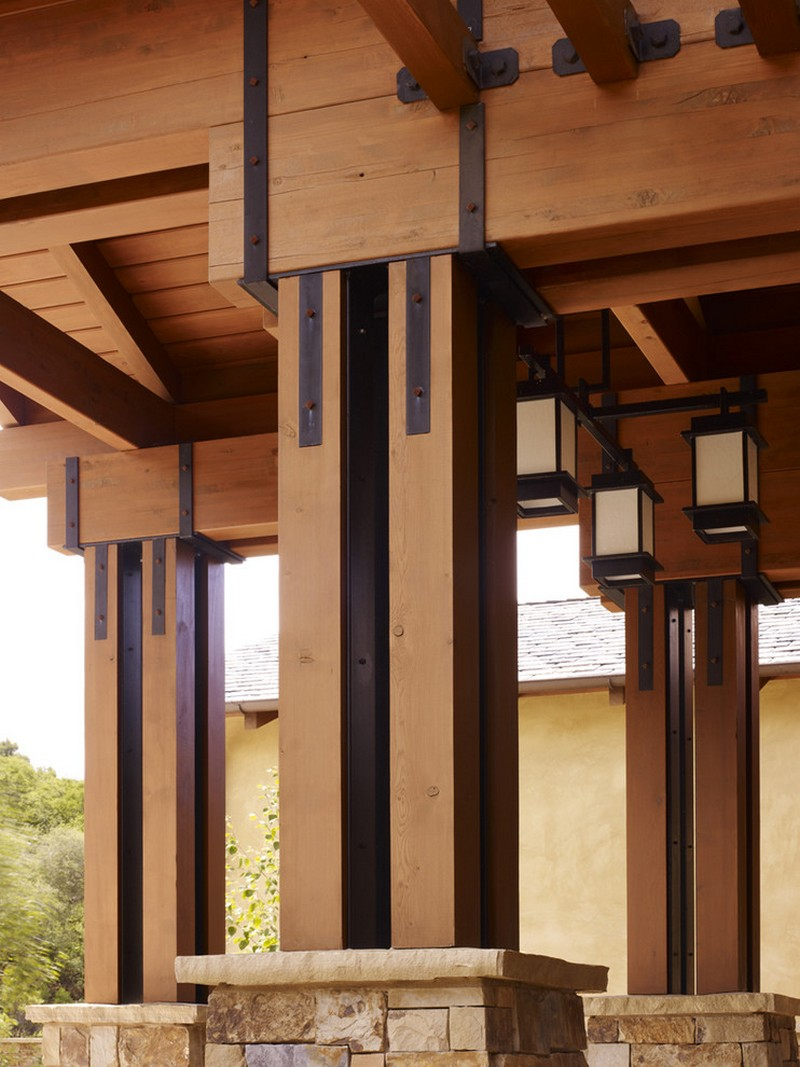 Front porch wooden columns
