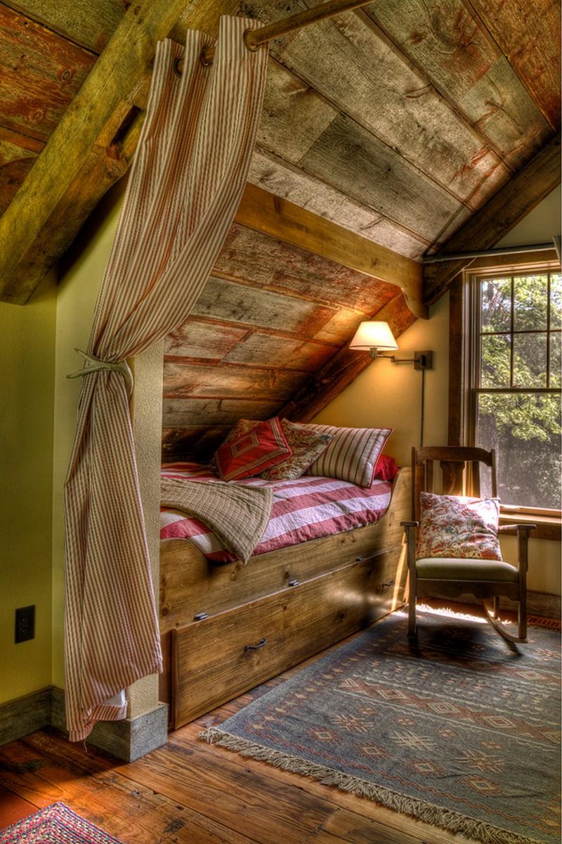 Дизайн небольшого дома с мансардой внутри