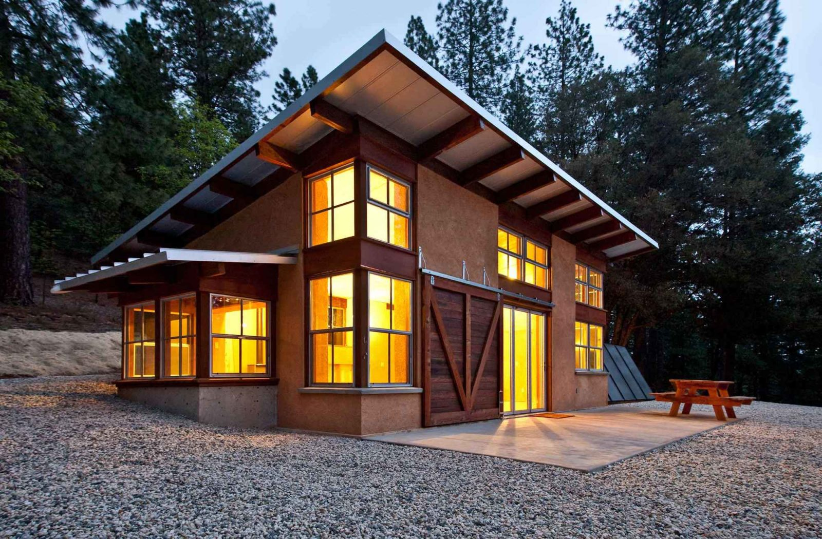 Functionality in the forest magnificent chalet style for Simple barn home plans
