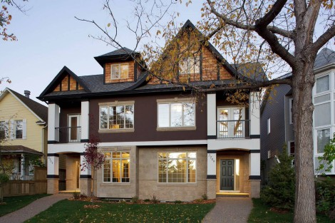 3 story townhouse with modern elements and grey wall cladding