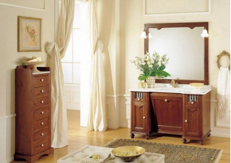 деревянная мебель для ванной комнаты