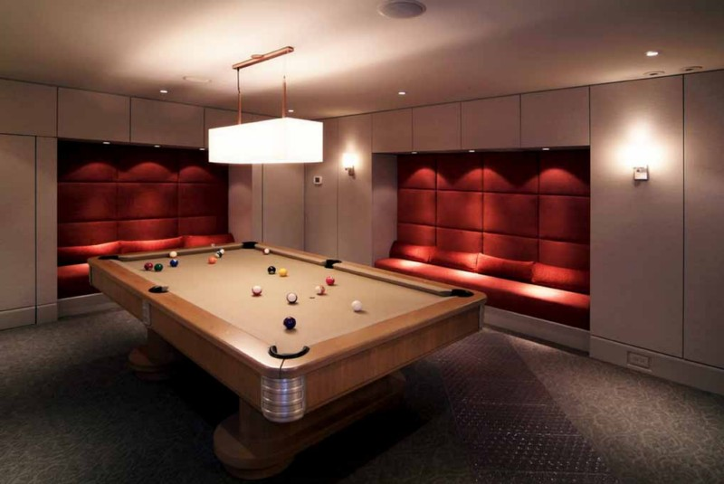 modern billiard room