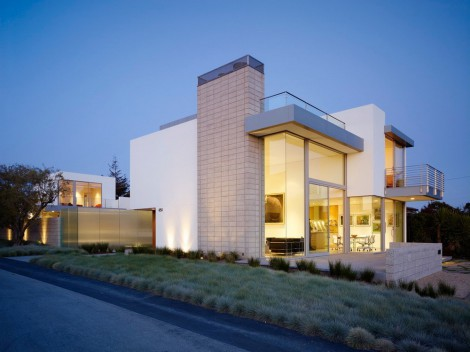 Contemporary design, glass exterior, terrace, balcony and stainless steel frames