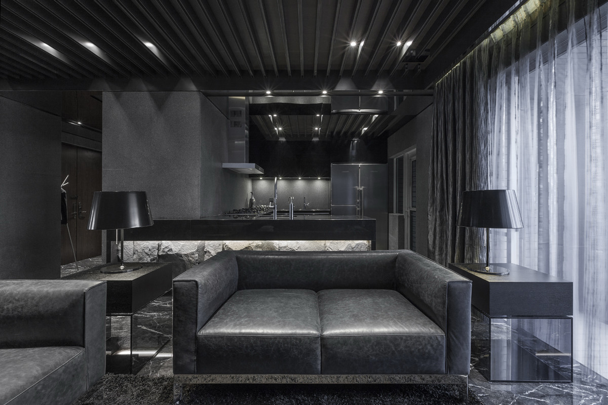 monochrome modernity: sleek apartment has a breath taking