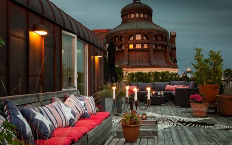 classic style rooftop terrace