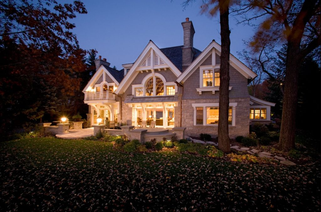 classic two story cottage grey style