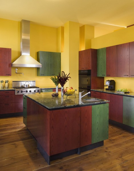 colourful spanish kitchen