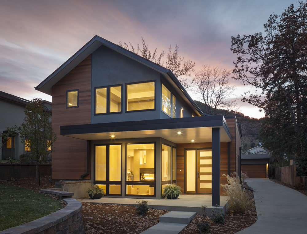 contemporary traditional home