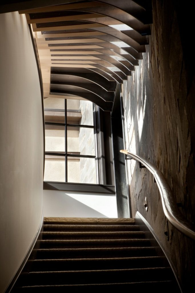 ergonomic staircase view natural light