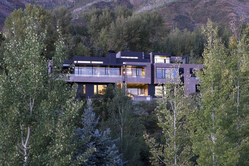 hillside contemporary home