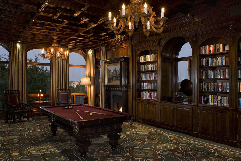 interior options for billiard rooms