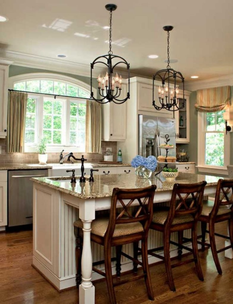 kitchen island marble top