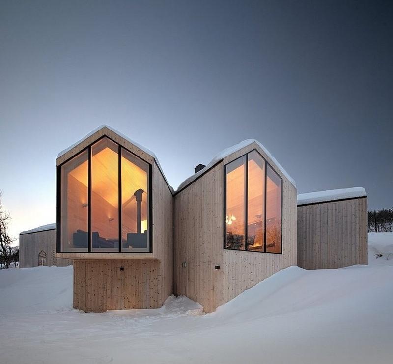 large windows prefab home