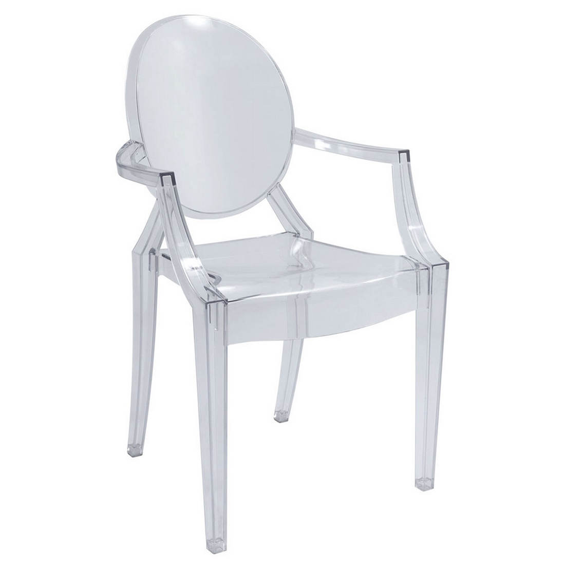 Louis ghost chair by kartell the classic reinvented by for Silla transparente