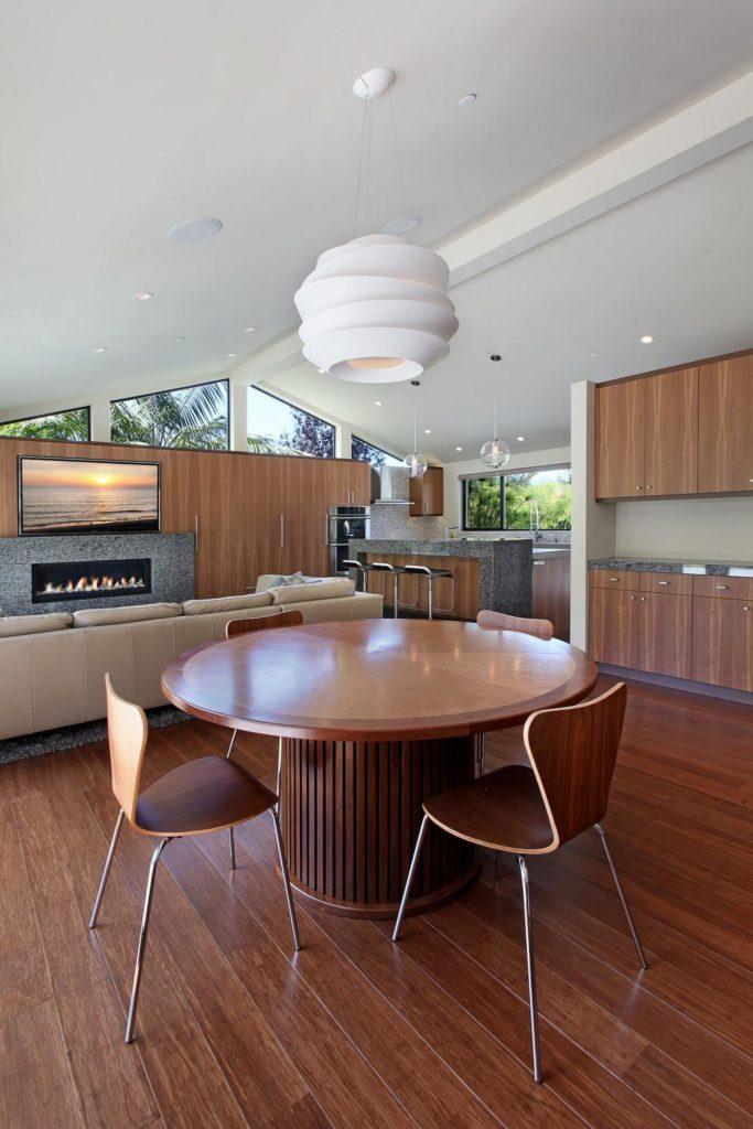 mid century modern kitchen area