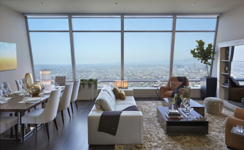 Luxury Los Angeles Penthouse Apartment Interior