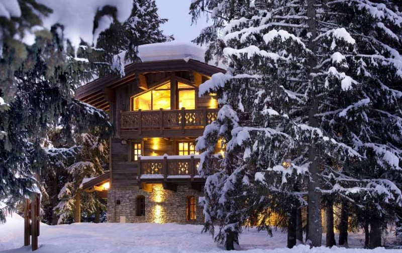 ski chateau in the french alps