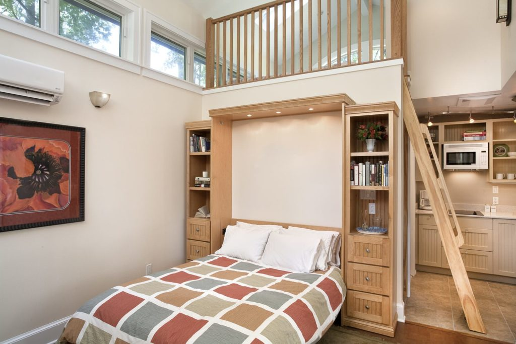small guest house with fold down bed