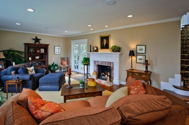 spacious home style living room
