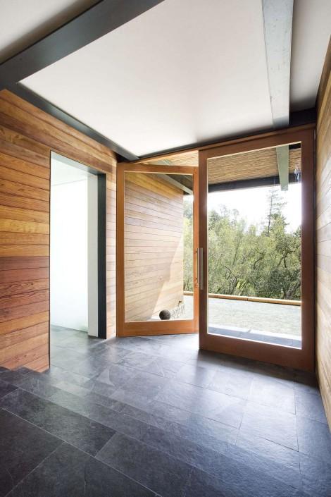 stained cedar rich floors