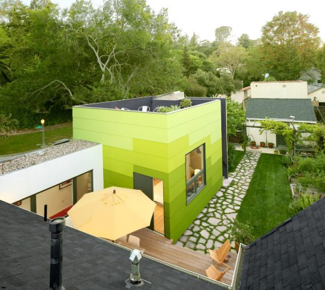 three tones of green exterior