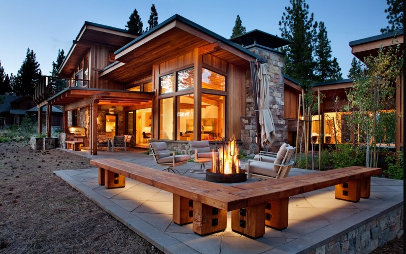 Natural modernity modern house with very natural features for Modern mountain house plans