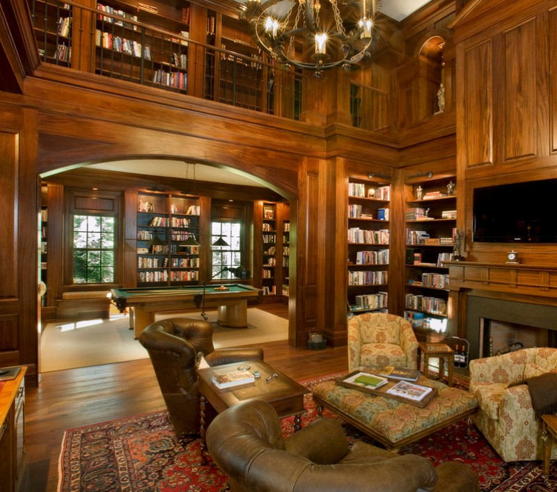 traditional style library