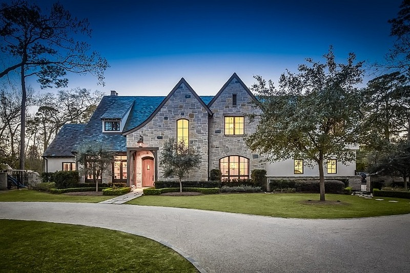 traditional two story american home in texas