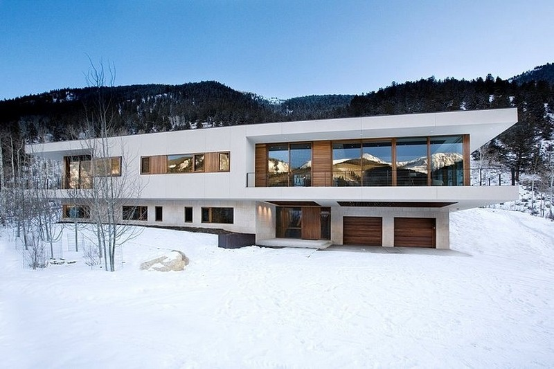 two story house overlooking mountain range
