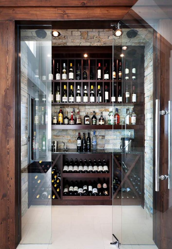wine cellar of modern home