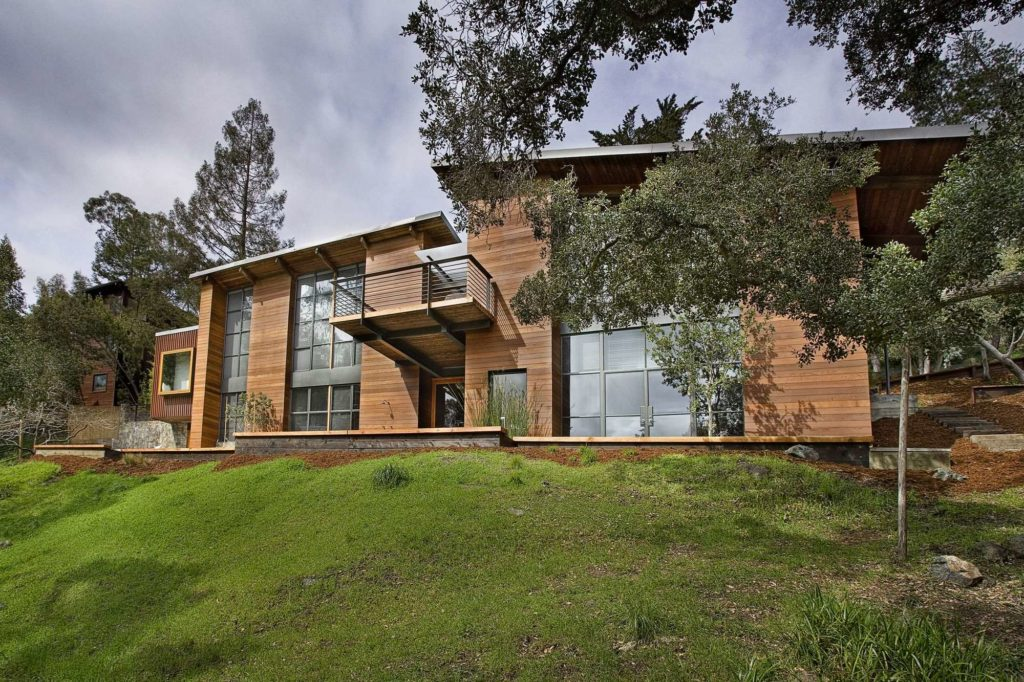 wood panelled house contemporary and modern