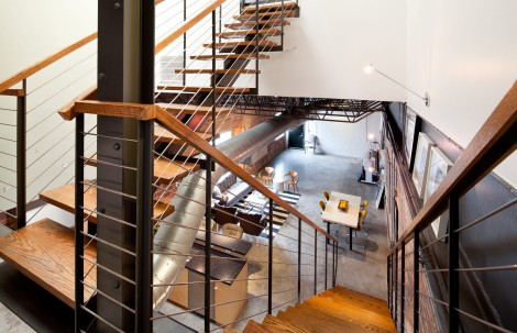 contemporary staircase effect
