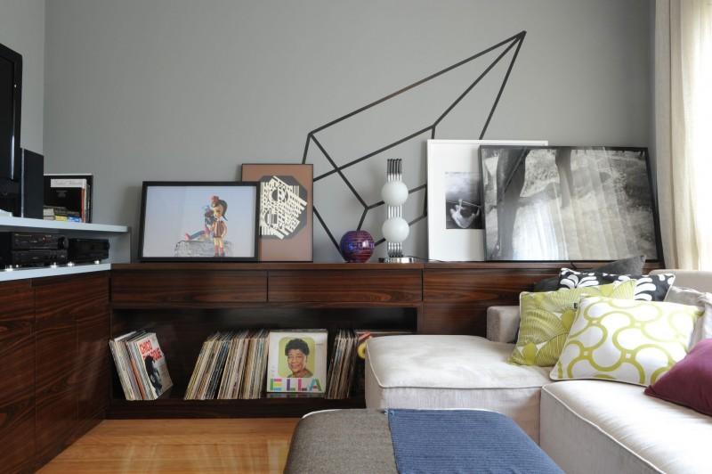 funky designed living room