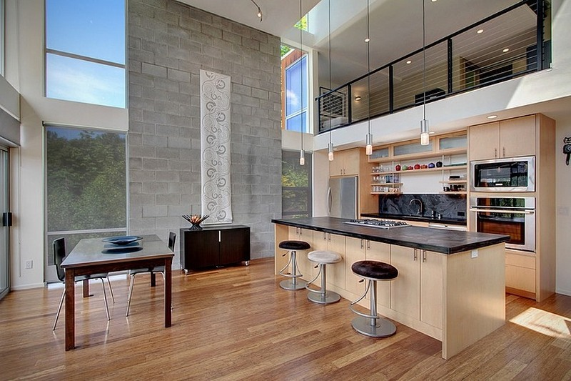 High Ceiling Kitchen Design Ideas ~ Towering pretty stunning tower house is epitome of modern