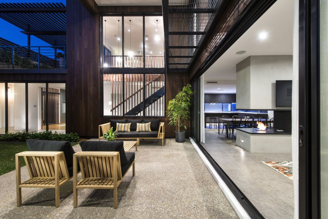 Modern mixtures contemporary house is perth has great Modern house company