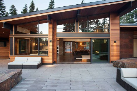 home featuring sloped roof