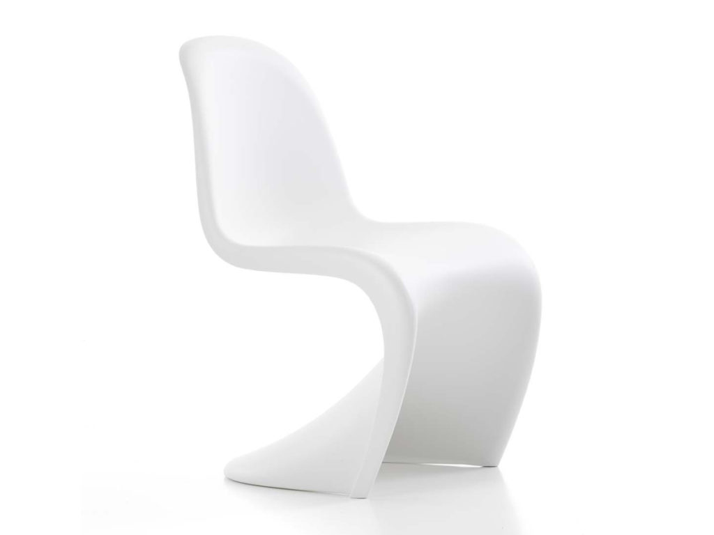 one piece modernist white chair