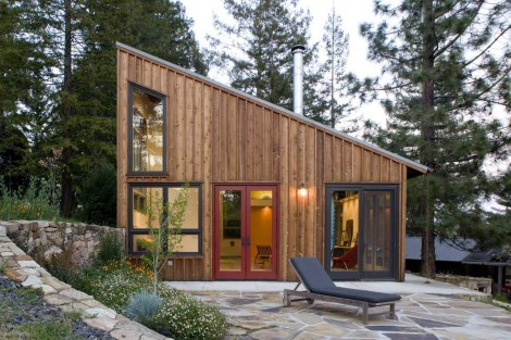 sloping roof home