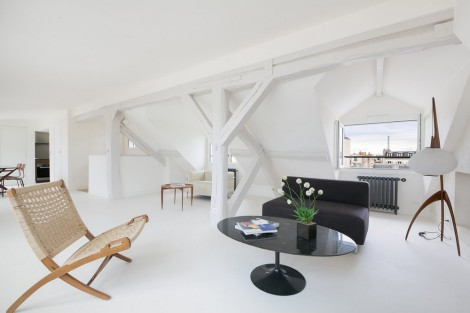 snow white loft apartment