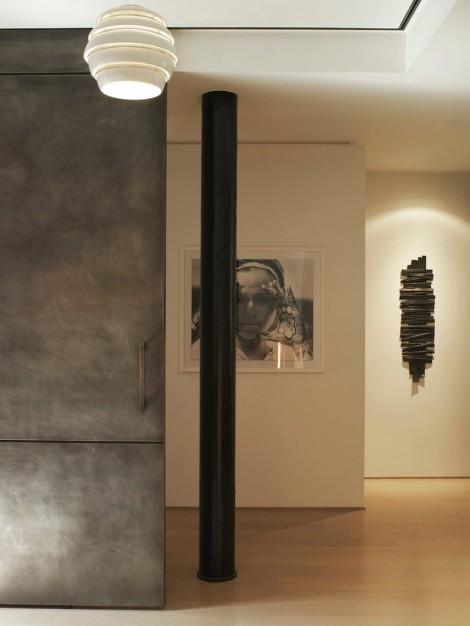 steel doors and columns