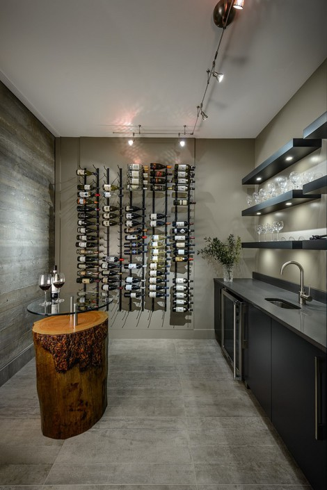 wine cellar with rack