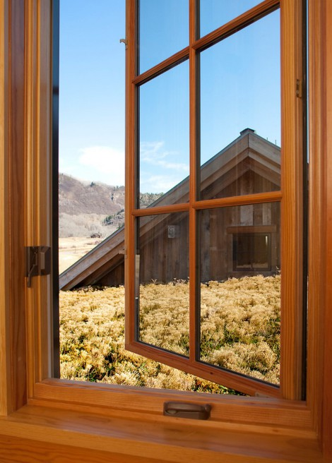wood window and beautiful view