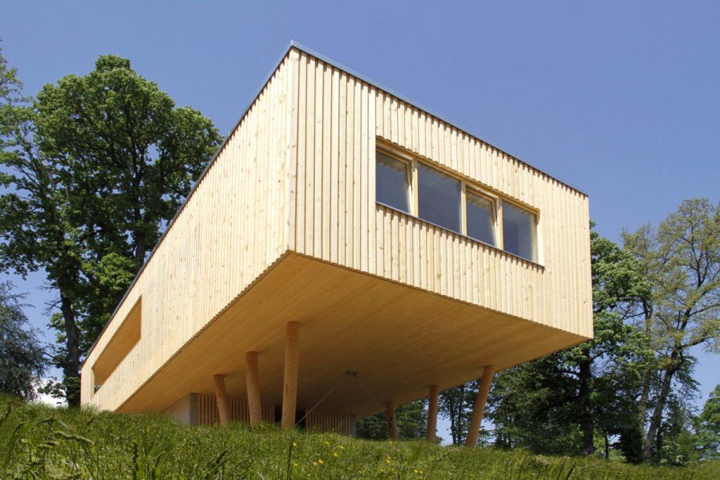wooden house on stilts